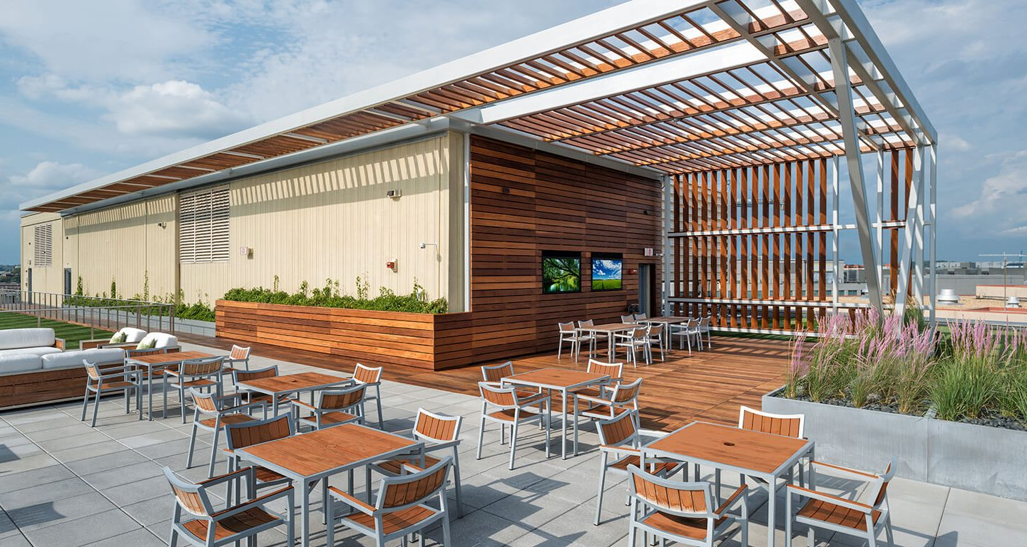 601 New Jersey Ave rooftop terrace rendering