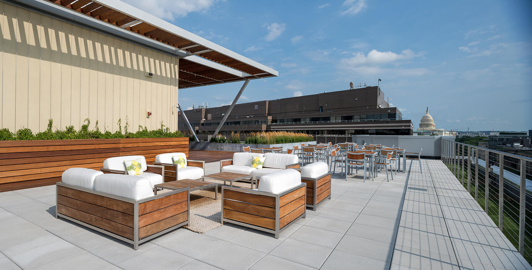 601 New Jersey Ave rooftop terrace