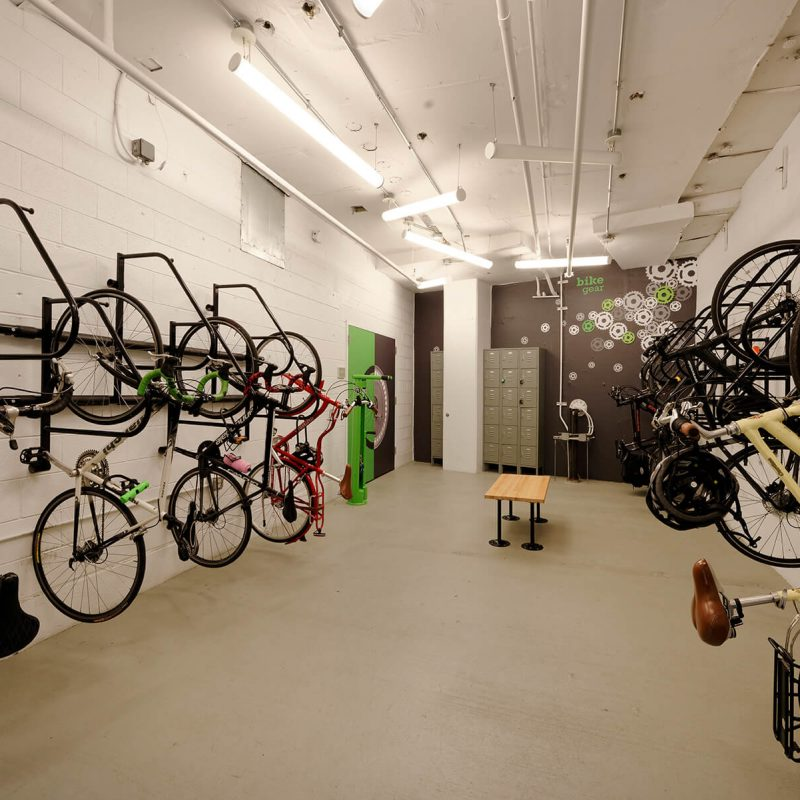 High capacity bike room